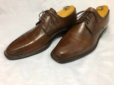 $495 Sutor Mantellassi OSCAR Men's Shoes Brown Derby Sz 8.5 MADE IN ITALY