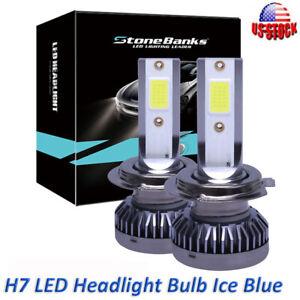Pair H7 Ice Blue Car LED Headlight Bulbs Kit 30000LM Hi/Lo Beam Lamp 8000K 200W