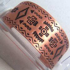 Copper Cuff Bracelet Wheeler Mf Arthritic Healing Detox Sciatica Folklore cb 119