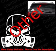 Die Cut Skull Mask Vw Volkswagen Gti Window Vinyl Sticker Decal Punisher Rc065