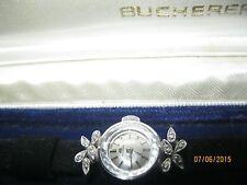 VINTAGE BUCHERER GENUINE DIAMONDS WOMENS WATCH WITH ORIGINAL BOX