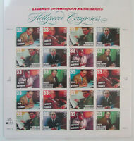 1999 HOLLYWOOD COMPOSERS MNH Sheet of 20 Postage Stamps 33 Cent