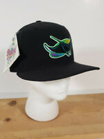 VTG Tampa Bay Devil Rays New Era Fitted 5950 Diamond Collection Hat w/ Tag Black