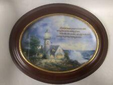 Thomas Kinkade Plate Framed By Van Hygan & Smythe ~ A Light In The Storm