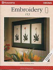 Husqvarna Viking Embroidery Floppy ECard No. 113 Flora 18 Designs