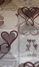 Shower Curtain in Brand New Beautiful Designs Brown Heart shape