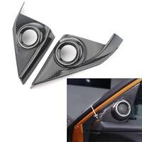 2x Carbon Fiber Door Speaker Cover A-Pillar Interior Trim for Honda Civic 16-17