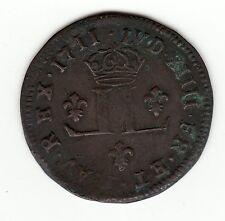 French Colonial 1711 D  30 deniers Mousquetaire , Vlack # 335, R8
