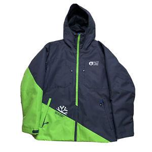 Menthe! Grand Picture Biologique Vêtements Vert/Gris Colorblock Veste Snowboard