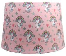 "Unicorn Pattern Kids Dual Purpose Lightshade Lamp Shade Pink 11"""