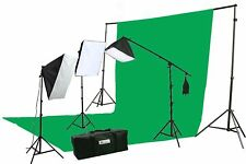 ePhoto 10 X 20 Large Chromakey Chroma KEY Green Screen Support Stands 3 Point...
