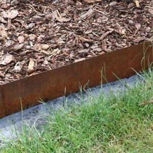 Rasenkante Rasenkantenband Corten Edel-Rost Metall Beeteinfassung Beetumrandung