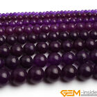 "Amethyst Purple Jade Round Beads For Jewelry Making Strand 15"" 6mm 8mm 10mm 12mm"