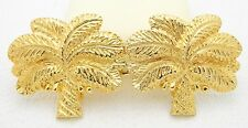 Rare Vintage MIMI di N 1974 Coconut Palm Tree Gold Tone Buckles