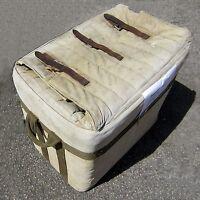 Vintage WWII Air Drop Box MEESE INC. Insulated Cork Tin Canvas Militaria