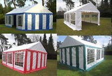 XXL Partyzelt 3x4 - 5x8 m Pavillon Festzelt 500g/m² PVC + Stahlgestell NEU