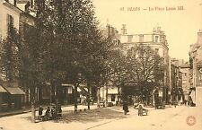 Wagons, Children & A Man With A Handcart, La Place Louis XII, Blois France