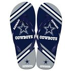 Dallas Cowboys NFL Football Team Color Big Logo Unisex Beach Flip Flop Sandals