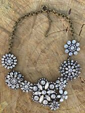 Crystal Lattice J Garden Floral Snowflake Statement necklace US SELLER Crew 2017