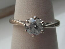 79M Ladies 18ct white gold 0.50 carat solitaire Diamond engagement ring size J