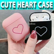 Case For Apple AIRPODS 1,2,PRO Shockproof PC Hard Cute HEART Earphones Cover