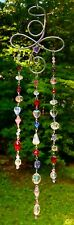 ANGEL SUNCATCHER-CRYSTALS, HEARTS, MULTI-COLOR -HANDCRAFTED-3 DIMENSIONAL # 927
