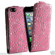 Leather Flip Diamond Case Holder Glitter Cover For Samsung S3 Apple iPhone 4s 4