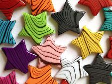 Mezclado Color 25 estrellas Encantos Colgante fabricación de joyas Artesanías 30mm CHP0181