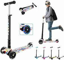 Caroma 3 Wheel Kick Scooter for Kids & Toddlers Girls and Boys STABLE and SAFETY