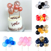 10PCS CONFETTI BALLOON CAKE TOPPER BIRTHDAY BABY WEDDING PARTY DECORATION