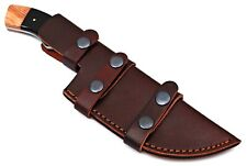 Double stitch custom hand made pure leather sheath for fix blade knife