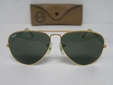 Vintage B&L Ray Ban Large Metal 58mm Gold G-15 Gray L0205 Aviator Sunglasses