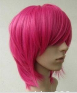 2020 New Short Hot Pink straight base cosplay wig