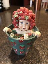 "Anne Geddes Enesco ""babies Are Life's Greatest Reward "" 4"" Figurine Strawberry"