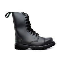 Vegan Steel Cap Toe Work Boots Breathable Water Resistant Lace-Up Botas Veganas