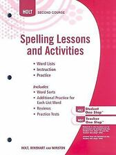 Elements of Language: Spelling Lesson Activities Grade 8, HOLT, RINEHART AND WIN