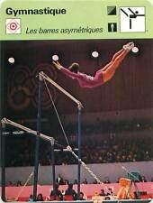 FICHE CARD:JO1968 V.Caslavska Barres asymétriques Uneven bars Gymnastics 1970s B