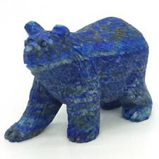 Bear Statue Natural Gemstone Lapis Carved Healing Reiki Figurine Home Decor #1