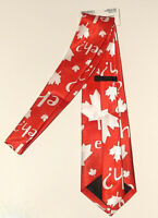 Canada Tie Mens Clothing Canada Day Maple Leaf All Over Red White NWT