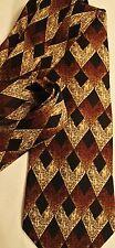 Giorgio Fellini Brown Executive  Classic Tie Necktie 100% Silk