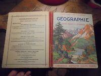 Ancien Manuel Scolaire de Géographie 1947 Cours Foncin Colin Fraysse