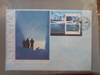 AUSTRALIA 1990 AAT JOINT ISSUE USSR 2 STAMP MINI SHEET CASEY FIRST DAY COVER