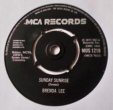 "BRENDA LEE - SUNDAY SUNRISE. 7""  SINGLE.1973."