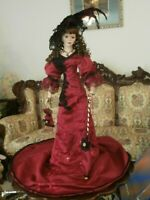 RARE VINTAGE VICTORIAN STYLE DOLL HAND GRAFTED LARGE 28 INCH BISQUE PORCELAIN
