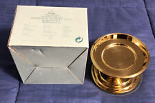 """PartyLite 2"""" Falmouth P0466 Brass Pillar Candle Holder - Brand New"""