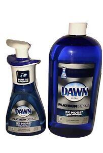Fresh Rapids Dawn Platinum Dishwashing Foam 10.1 Oz & 1 30.9 Oz Foam Refill