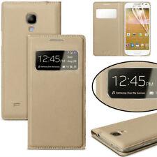 For Samsung Galaxy S4 Case, S View Flip Cover Folio Case Gold