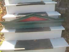 "Circa 1900'S Window Header Pediment GREEN~ANTIQUE SALVAGE 48"" x 10 1/4""x4 1/2"""