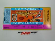 1977 Indianapolis 61st International 500 Mile Sweepstakes Used Race Ticket Stubs