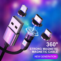 2020 3 in 1 3A Magnetic Fast Charging Cable Adjustable 540° Type-C Micro USB USA